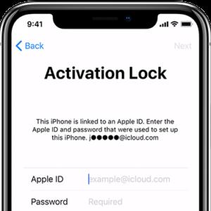 Apple iCloud odblokování