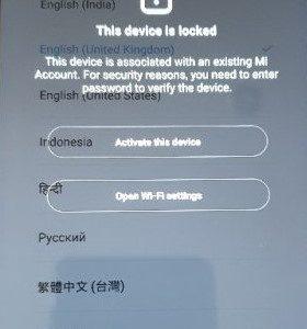 Xiaomi Mi Account odblokování