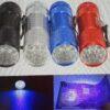 Mini 9 LED UV svítilna Barva modrá