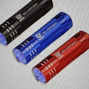 Mini 9 LED UV svítilna Barva černá