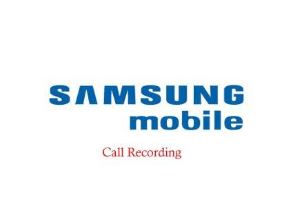 Nahrávaní hovorů v telefonu Samsung