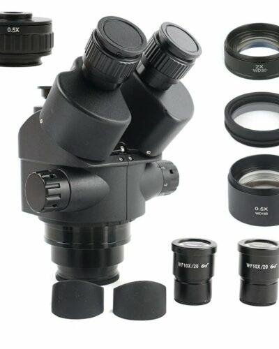Mikroskop 7X-45X Simul-fokal Trinokulár Stereo Mikroskop Hlava