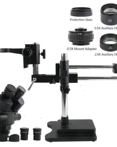 Mikroskop Trinokular Stereo New Mikroskop Hlava 3X-90X Set Stojan